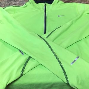 Nike Tops - Nike running top neon green and blue